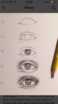 Step by step eye tutorial eyetutorial tutorial eye drawing otherpwHow to draw an eye~ This was done with alcohol markers, but could really be done with any material.Eye Tutorial by Drawing Tutorial for Occasional ArtistsPaigeeWorld is a community for Pencil Art Drawings, Cool Art Drawings, Art Drawings Sketches, Easy Drawings, Disney Drawings, Interesting Drawings, Pencil Sketching, Sketches Of Eyes, Drawing With Pencil