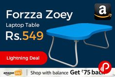 Amazon Lightning Deal is offering 55% off on Forzza Zoey Laptop Table at Rs.549 Only, extremely practical and useful, 3 months warranty.