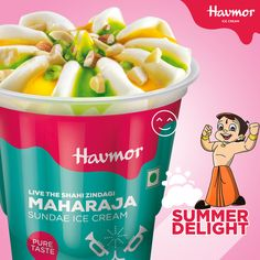 Relish your dessert like Kings & Queens with our new range of Chhota Bheem #SummerDelight  Maharaja Sundae.