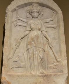 Votive relief statue of Hecate - circa 2nd-3rd c. AD - at the Varna Archaeological Museum