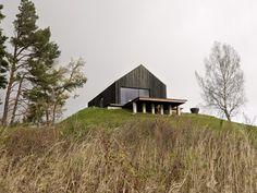 socially active family's living house complex at the River Venta near Kuldiga.