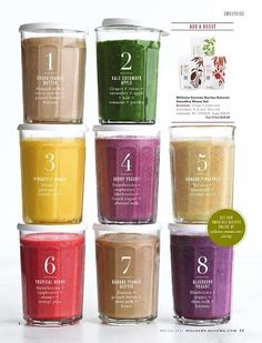 Different smoothie recipes! We could have a smoothie bar at one of our shows, have 'em at the concession at Glowa Palooza, or make some for a break while shooting a vid or something! Yum! #Smoothies