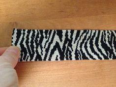 Zebra peyote bracelet cuff