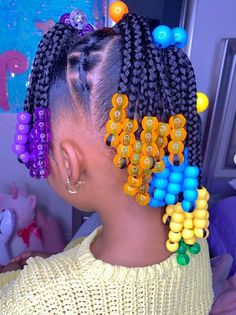 Little Girls Natural Hairstyles, Black Girl Braided Hairstyles, Black Kids Hairstyles, Cute Little Girl Hairstyles, Little Girl Braids, Baby Girl Hairstyles, African Hairstyles For Kids, Toddler Braids, Braids For Kids