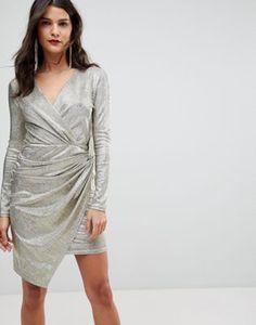 Платье мини с запахом Morgan