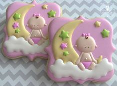Infant Sitting on Moon Decorated Sugar Cookies  |  Dolce