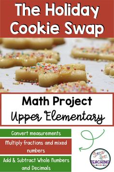 Add some holiday fun to your math class with this math project! Students will shop for ingredients, convert measurements, and have a blast!