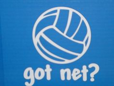 Got Net Volleyball Car Decal.  Visit my store for more Volleyball Gifts:  www.thesportsjourney.com
