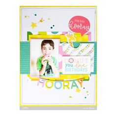 Creating a Memorabilia Pocket on your next layout! - Pebbles, Inc. It's Your Birthday, Birthday Cards, Happy Birthday, Birthday Scrapbook Pages, Envelope Punch Board, Paper Crafts, Diy Crafts, Pocket Cards, Great Memories