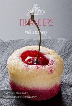 Financiers vanilla cherry Apple Roses, Fours, Food Styling, Macarons, My Recipes, Fondant, Gem, Food Photography, Cheesecake