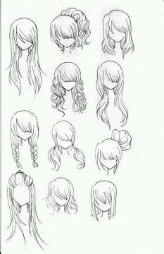 Draw Realistic Hair Drawing … Hairstyles … The link does not go anywhere but the image is great - Station Of Colored Hairs Realistic Hair Drawing, Drawing Tips, Drawing Ideas, Drawing Drawing, Drawing Faces, Drawing Tutorials, Drawing Style, Anime Hair Drawing, Lady Drawing