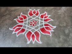 Rangoli Side Designs, Rangoli Designs Latest, Free Hand Rangoli Design, Small Rangoli Design, Rangoli Designs Diwali, Rangoli Designs With Dots, Small Free Hand Rangoli, Simple Art Designs, Simple Flower Design
