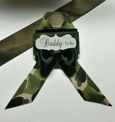 Daddy to Be Camo Pin Soldier Baby Shower by fourDOLLYSboutique