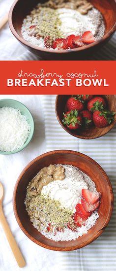 Strawberry Coconut Breakfast Bowl