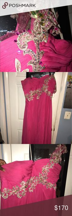 Long, elegant prom dress Long pink prom dress! Has been altered around the bust. Looking to get rid of as soon as possible. Only worn once. Dresses Prom