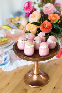 Leah Bergman of Freutcake went above and beyond, serving up a delightfully pink-tinted, three-course spring brunch, now on the Easter Recipes, Brunch Recipes, Easter Appetizers, Pickled Eggs, Pink Foods, Deviled Eggs Recipe, Easter Celebration, Easter Dinner, Sweets