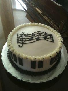Piano Recital Cake  Cakes / Cupcakes Pops Frostings Pinte cakepins.com