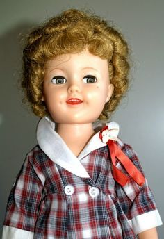 """17"""" Flirty eyed Shirley Temple doll by Ideal 1950s"""