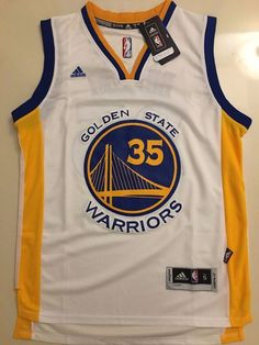 1ac66b50b Men GSW 35 Kevin Durant Jersey White Golden State Warriors Swingman