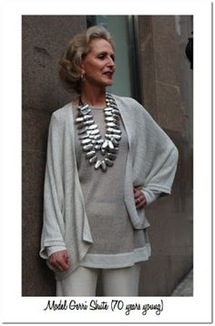 I think the sophisticated elegance of fashion for the over 40's is so wonderful, being able to pull it off will be the silver lining of aging for me