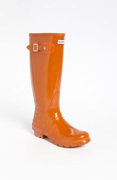Hunter 'Original Tall' Gloss Rain Boot (Women) | Nordstrom - I have and <3 these, and always get compliments on them. So bright and cheery to wear on soggy cold days.