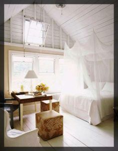 combles aménagés Chambre sous les toits.