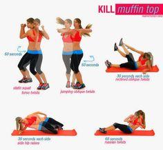 The Pretty Wild ♥ : Gli allenamenti per eliminare il muffin top (pancia e fianchi)