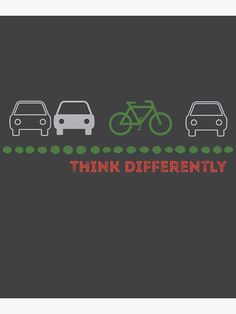 """Car vs Bike - Think Differently"" Canvas Print by WiseDogDesigns 