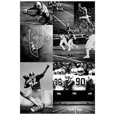 """Idea- Chalk board """"play"""" wall hanging or plays framed over closet Football Collage Wall Mural #pbteen"""