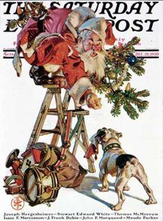 1930-12-20: Santa Up a Ladder (J.C. Leyendecker) Saturday Evening Post