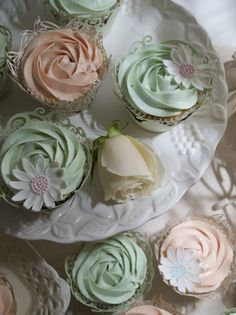 Love the mint green color of these! & the blush pink!