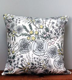 Emmy Floral Pillow Cover   Home Decor   Whitney Elizabeth   Scoutmob Shoppe   Product Detail
