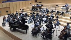 Jan Moritz Onken during the recording of 'Oeuvres pour la main gauche' - Hommage à Paul Wittgenstein / Ravel Prokofiev Britten / with Maxime Zecchini (piano) and the Cape Philharmonic Orchestra Conductors, Cape Town, Orchestra, Hands