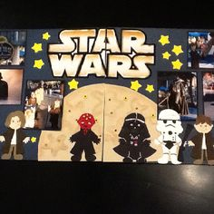 I did this Jedi Training scrapbook layout using my Cricut Paper Doll Dress Up Cartridge. I used a couple of other pins as guidelines.