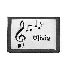 "Personalized ""Music Notes"" Wallet - accessories accessory gift idea stylish unique custom"