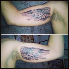 Cute Wing Tattoo Design on Arm for Men | Cool Tattoo Designs
