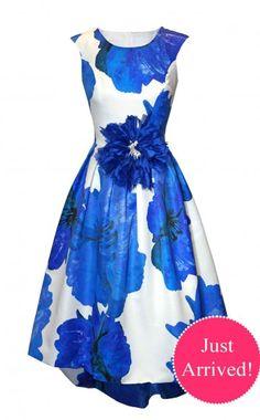 da8c692f49431 Carla Ruiz 94107, Blue Floral Dress by Carla Ruiz now in store at Blessings  Occasion