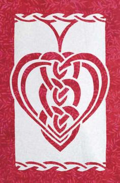 Celtic Hearts applique quilt pattern - $12 usd Order from http://www.scarlettrose.com/celtic_hearts.html