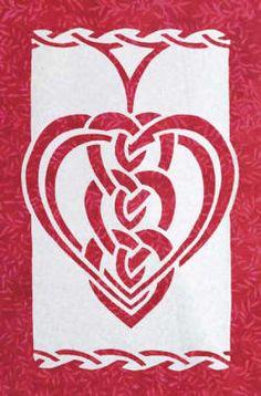 Celtic Hearts applique quilt pattern - $12 usd Order from http://www.scarlettrose.com/celtic_hearts.html