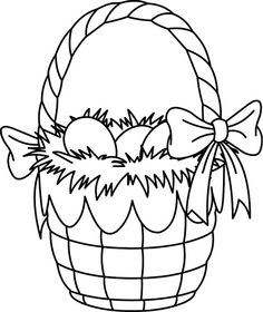 Easter Basket Coloring Page for Kids! Get into the holiday