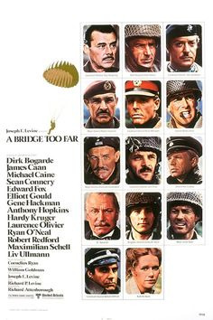67290 A Bridge Too Far Sean Connery, Robert Redford Wall Print Poster Plakat Robert Redford, Sean Connery, Cinema Posters, Movie Posters, D Day Invasion, Ryan O'neal, Richard Attenborough, Movie Facts, Movie Trivia