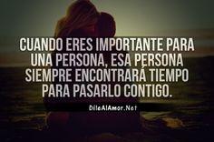 Eres importante para mi