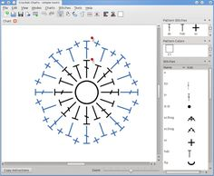 Stitch Works Software - for those who want to create their own patterns. Crochet Charts, software for creating symbol crochet charts that can be shared or published with ease. Also has printed (written) instruction text for those who don't follow charts