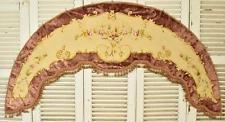 Exquisite Antique French Hand Embroidered Silk & Velvet Pelmet, 19th C - B840c