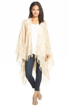 Eileen Fisher Plaid Wool & Cashmere Poncho available at #Nordstrom