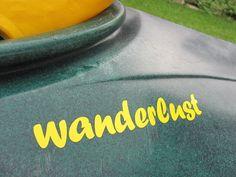 Kayak Decal  wanderlust by SlappyJoes on Etsy, $4.25 (black writing)