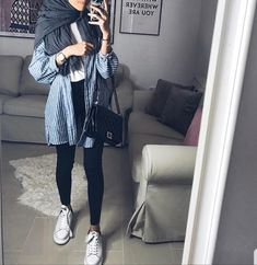 New style vestimentaire moderne 58 Ideas Modern Hijab Fashion, Street Hijab Fashion, Hijab Fashion Inspiration, Muslim Fashion, Casual Hijab Outfit, Ootd Hijab, Casual Hijab Styles, Mode Outfits, Fashion Outfits