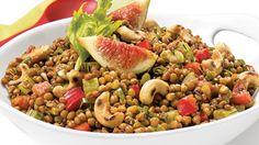 Salade de lentilles méditerranéenne | Recettes IGA | Légumineuses, Salade repas, Recette rapide