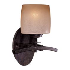 Iron Oxide 1 Light Wall Sconce From The Raiden Collection in Bathroom Sconces, style - Contemporary, by Minka-Lavery, Model - finish - Black, family - Raiden Lighting Sale, Wall Sconce Lighting, Bathroom Lighting, Bathroom Sconces, Wall Sconces, Minka, Iron Oxide, Wall Lights, Contemporary