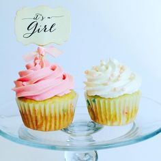 Baby Shower/Gender Reveal Cupcakes @ cupcakesandconfetti.com Instagram & Facebook @cupcakesandconfetti1